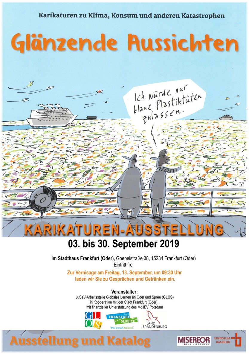 Poster Karikaturenaustellung Klimaschutz 2019