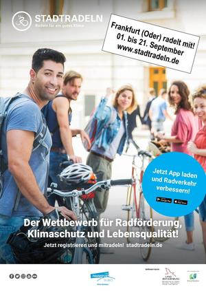 Poster Stadtradeln Frankfurt (Oder) 2019